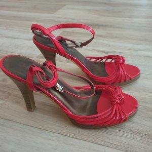 Lackleder rot Sandalen Sandaletten Gr. 37 wie Neu! Jennifer Taylor