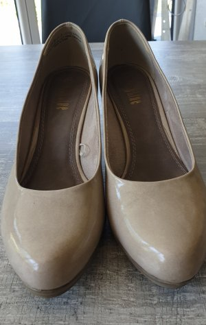 Lacklederpumps beige