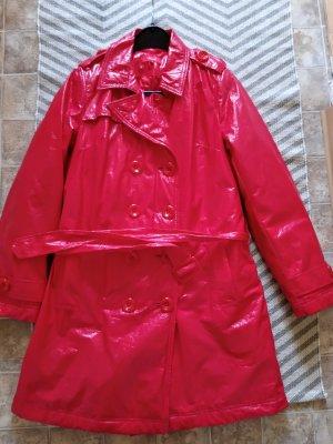 Anne L. Trenchcoat rouge brique faux cuir