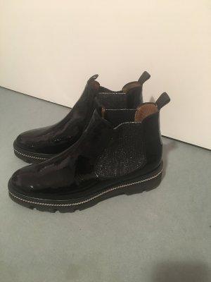 Pertini Bottines à plateforme noir cuir