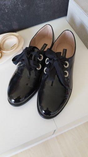 Bestelle Lace Shoes black-silver-colored