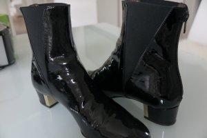 AGL Scarpina di lana nero Pelle