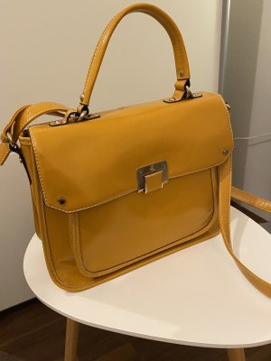 Lacktasche in Trendfarbe gelb Business/Crossbody/College Style