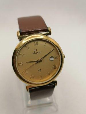 Laco Montre avec bracelet en cuir bronze-doré