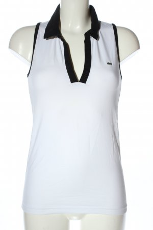 Lacoste Polo Top white-black casual look