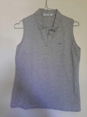 Lacoste ärmelloses Piqué-Poloshirt hellgrau meliert Gr. 36