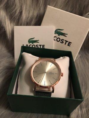 Lacoste Horloge met metalen riempje zilver-roségoud Edelstaal
