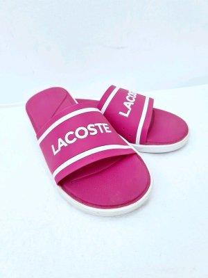 Lacoste Beach Sandals pink-white mixture fibre