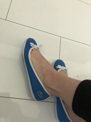 Lacoste Slingback Ballerinas blue-neon blue