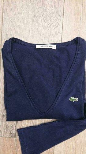 Lacoste, Blau, Pullover, Gr. 40,leicht, Langarm, Shirt, V Ausschnitt Np 129€
