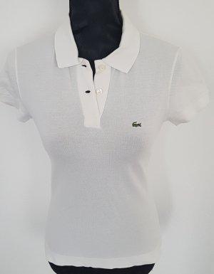 Lacoste Classic Fit Polo Shirt, kurzarm, aus Petit Pique, weiß, Gr.34/36, super Zustand