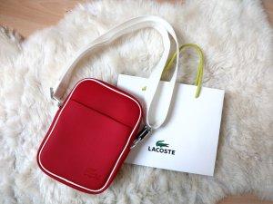 Lacoste Cross Body Bag rot weiß NEU