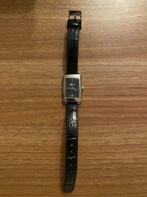 Lacoste Montre avec bracelet en cuir noir-argenté