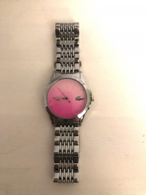 Lacoste Watch With Metal Strap silver-colored-pink