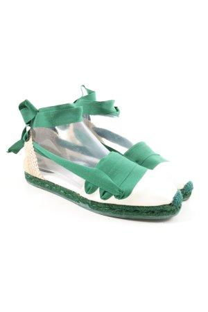 Lacoste Espadrille vert-blanc style décontracté