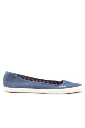 Lacoste Schlüpfschuhe blau-weiß Casual-Look