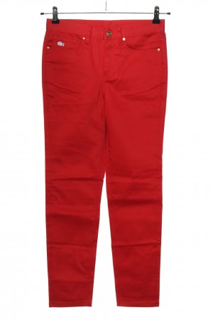 Lacoste Five-Pocket-Hose rot Casual-Look