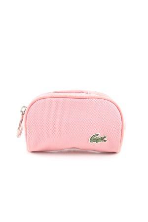 Lacoste Cartera rosa-verde estampado temático look casual