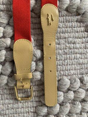 Lacoste Cinturón de tela rojo