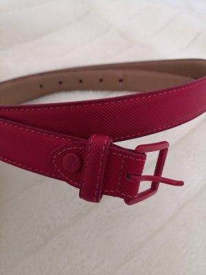 Lacoste Cintura fianchi rosso lampone Pelle