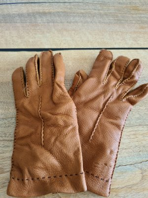 Lacoste Padded Gloves cognac-coloured