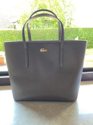 Lacoste Handbag grey brown leather