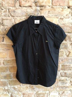 Lacoste Camisa de manga corta negro Algodón