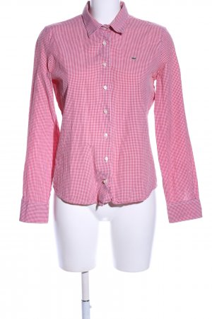 Lacoste Hemd-Bluse pink-weiß Karomuster Casual-Look