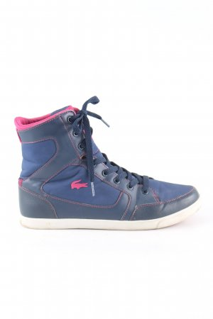 Lacoste High Top Sneaker blau-pink Casual-Look