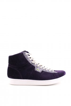Lacoste High Top Sneaker lila-weiß Casual-Look