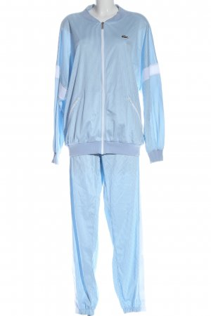 Lacoste Woven Twin Set blue striped pattern athletic style