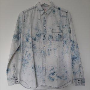 Lacoste Jeansowa koszula biały-niebieski