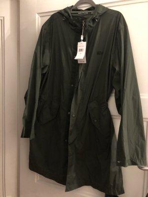 Lacoste Khaki Mantel Trenchcoat blouson L Überhangsjacke