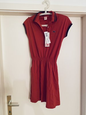 Lacoste Polo Dress bright red