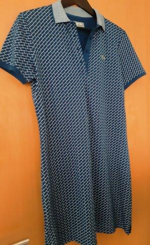 Lacoste Vestido de tela de jersey blanco-azul Algodón
