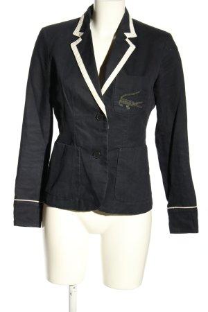 Lacoste Blazer corto negro-blanco look casual