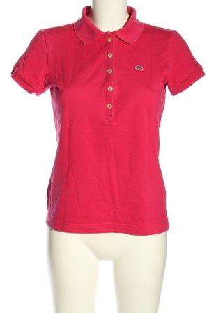 Lacoste Blouse à manches courtes rouge style décontracté