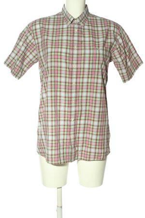 Lacoste Kurzarmhemd pink-grün Allover-Druck Casual-Look