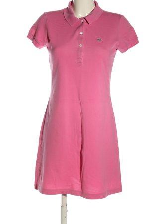 Lacoste Kurzarmkleid pink Casual-Look