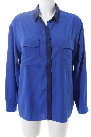Lacoste Hemd-Bluse blau-dunkelblau schlichter Stil