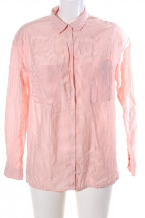 Lacoste Langarm-Bluse pink-weiß Streifenmuster Casual-Look