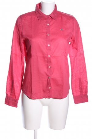 Lacoste Langarm-Bluse pink Casual-Look