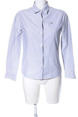 Lacoste Camisa de manga larga negro-blanco estampado a rayas estilo «business»