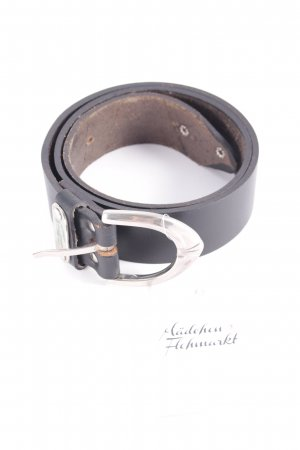 Lacoste Cinturón de cuero negro estilo sencillo
