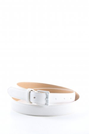 Lacoste Faux Leather Belt white casual look