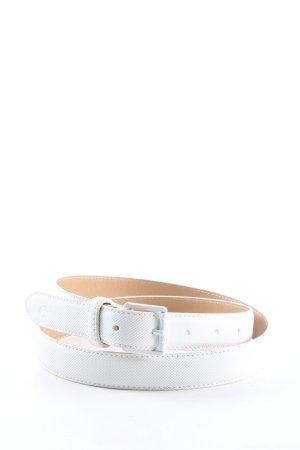 Lacoste Cinturón de cuero de imitación blanco look casual