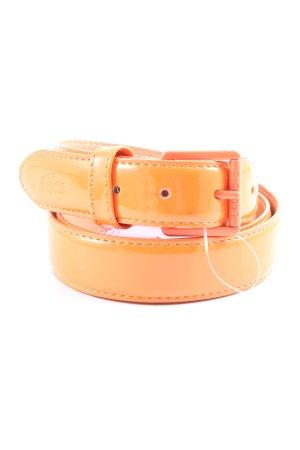 Lacoste Faux Leather Belt light orange extravagant style