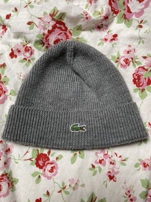 Lacoste Knitted Hat dark grey