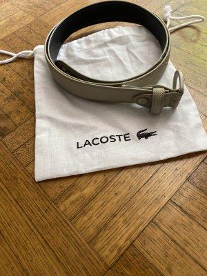 Lacoste Pasek materiałowy kremowy-beżowy