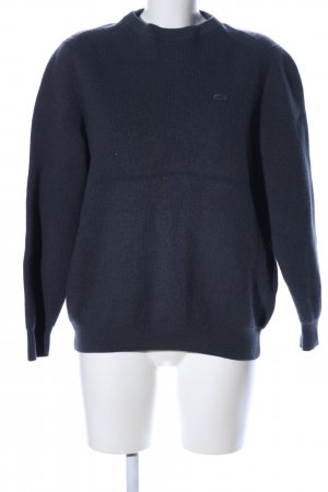 Lacoste Oversized Pullover schwarz Casual-Look